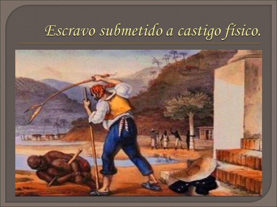 Escravo submetido a castigo físico.