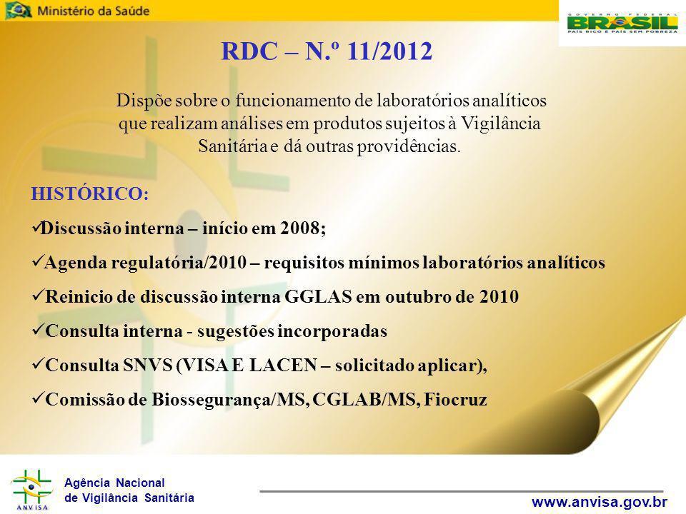 RDC – N.º 11/2012
