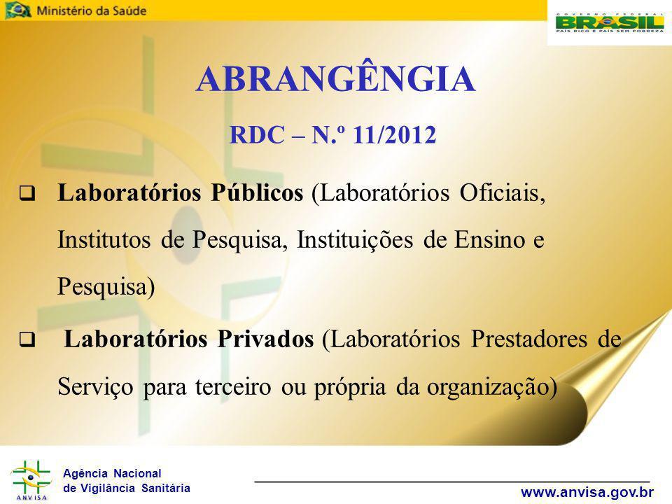 ABRANGÊNGIA Laboratórios Públicos (Laboratórios Oficiais, Institutos de Pesquisa, Instituições de Ensino e Pesquisa)