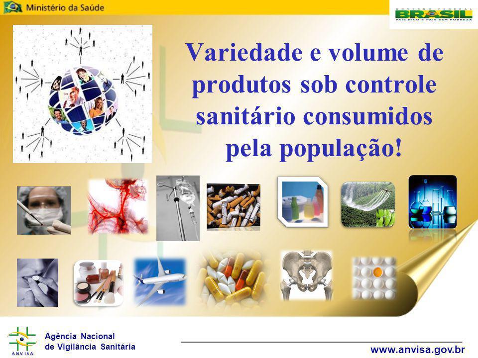 Variedade e volume de produtos sob controle sanitário consumidos pela população!