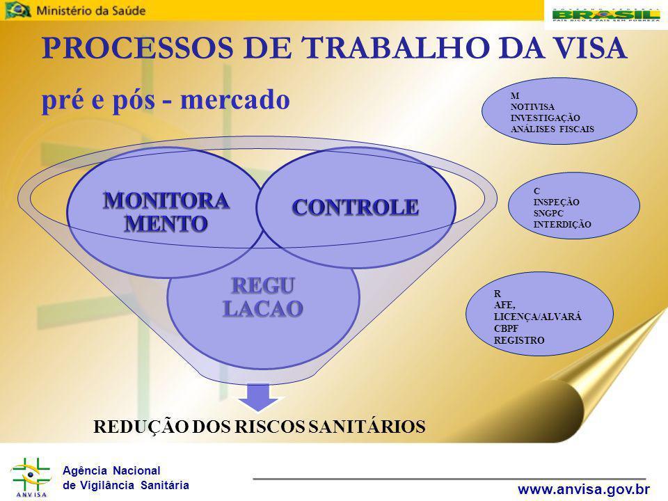 PROCESSOS DE TRABALHO DA VISA