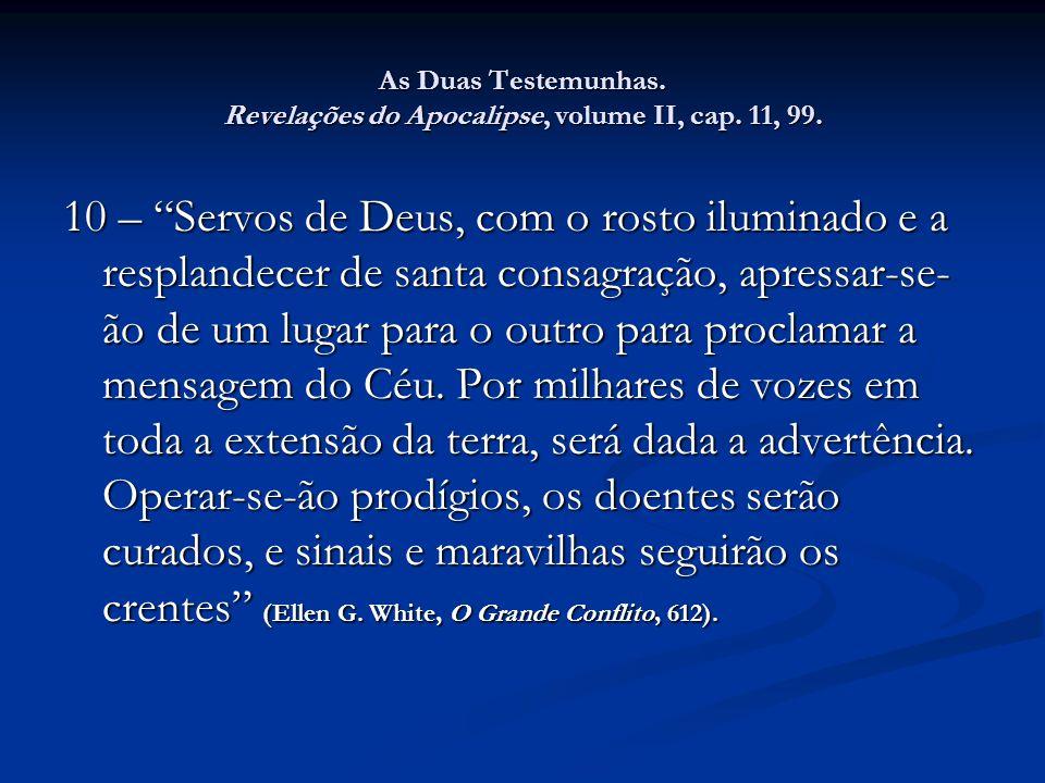 As Duas Testemunhas. Revelações do Apocalipse, volume II, cap. 11, 99.