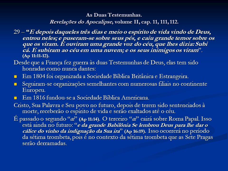 Em 1804 foi organizada a Sociedade Bíblica Britânica e Estrangeira.