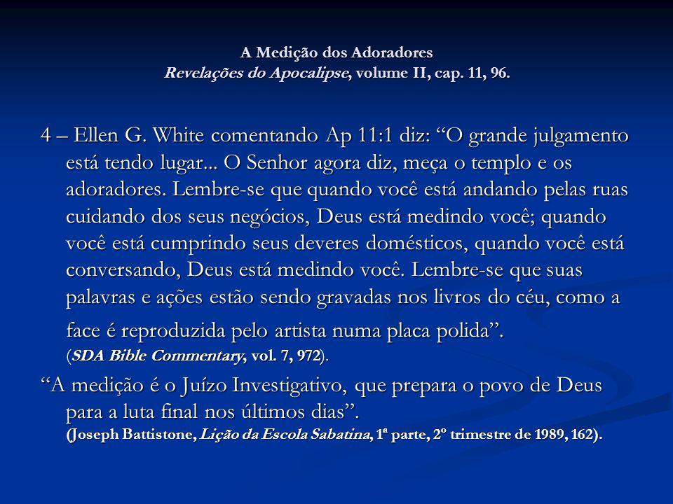 A Medição dos Adoradores Revelações do Apocalipse, volume II, cap
