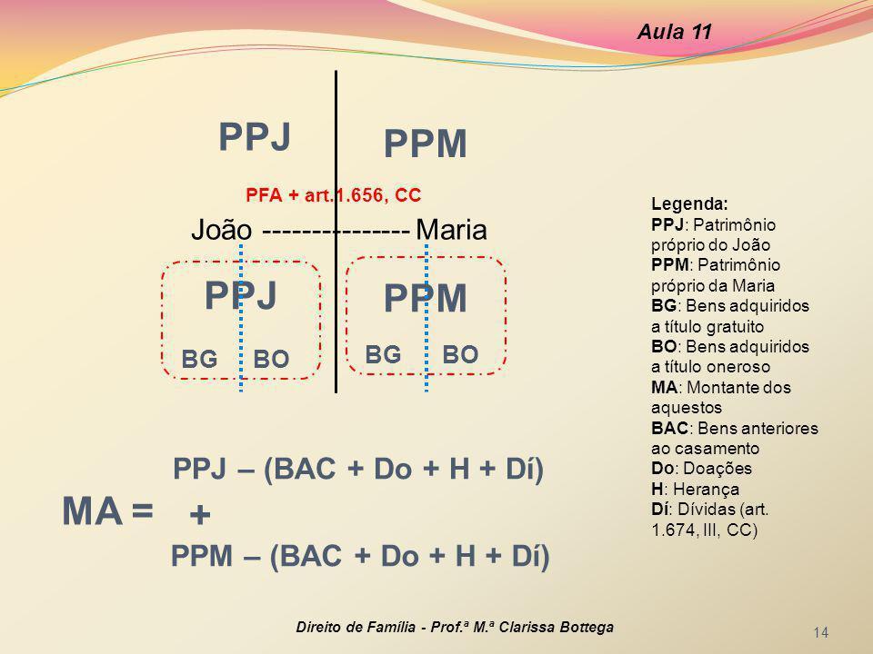 PPJ PPM PPJ PPM BG BO BG BO PPJ – (BAC + Do + H + Dí) MA = +