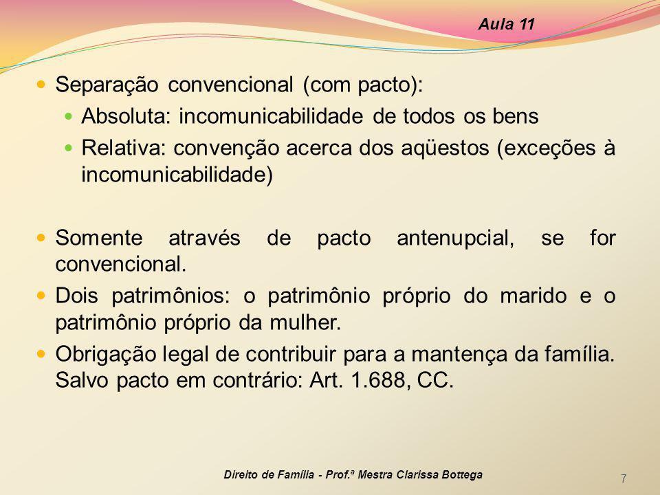 Separação convencional (com pacto):