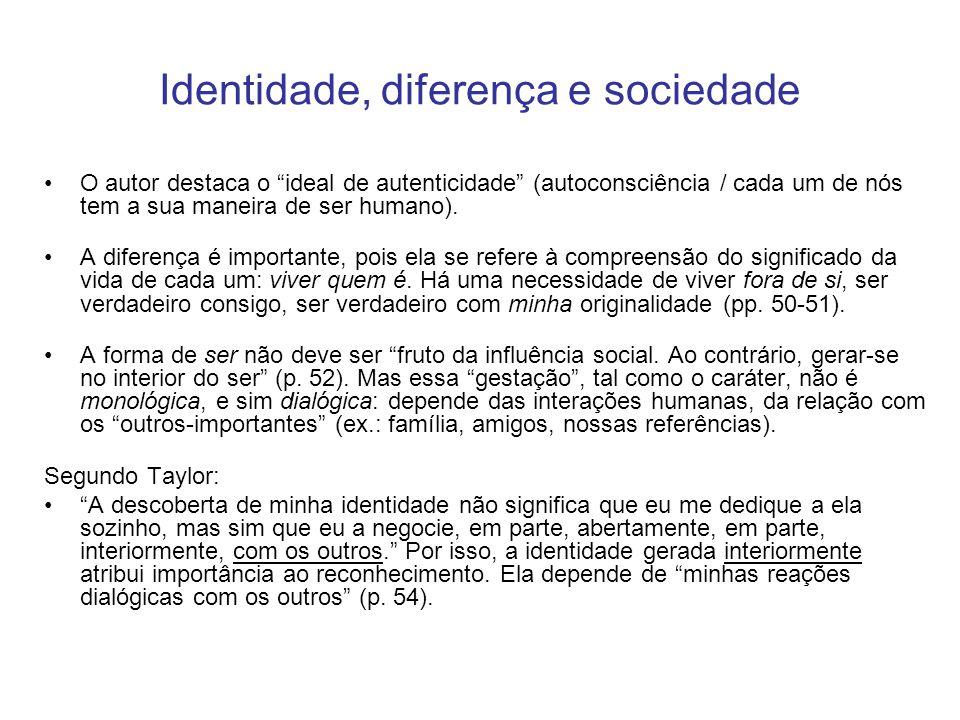 Identidade, diferença e sociedade