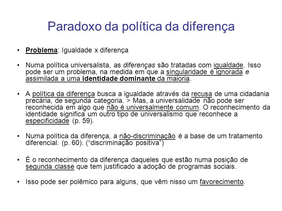 Paradoxo da política da diferença