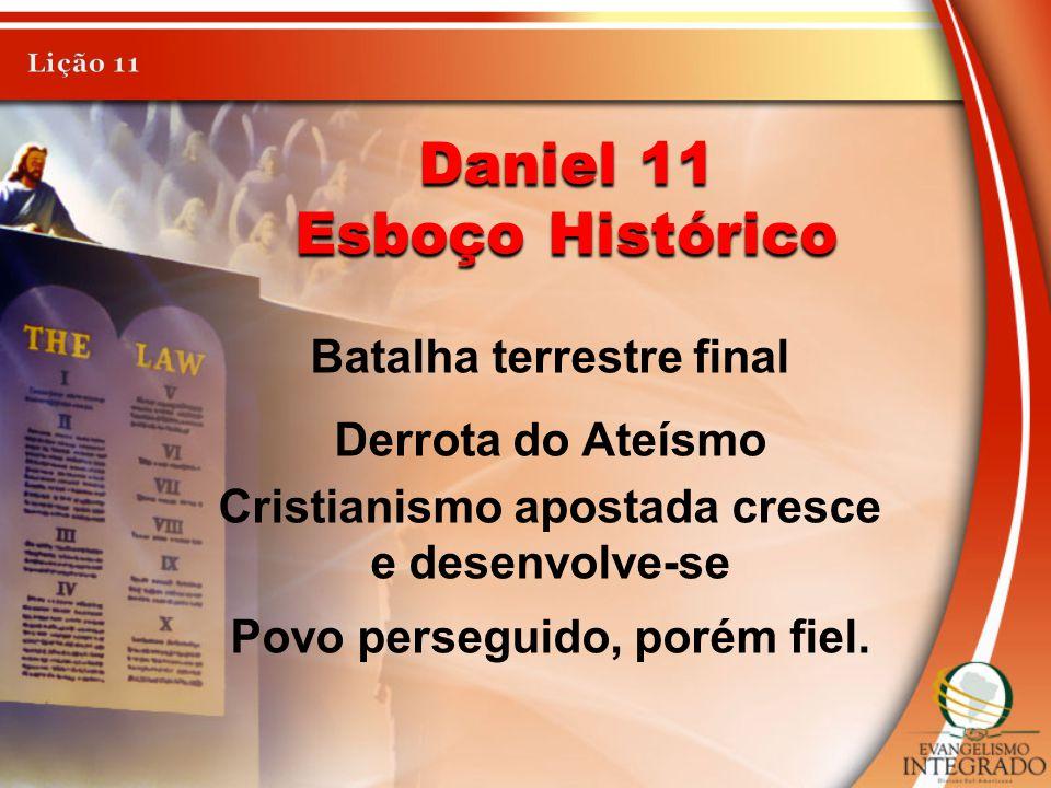 Daniel 11 Esboço Histórico Batalha terrestre final Derrota do Ateísmo