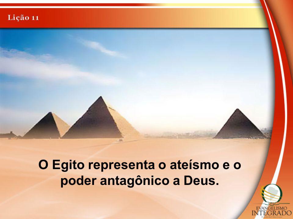 O Egito representa o ateísmo e o poder antagônico a Deus.