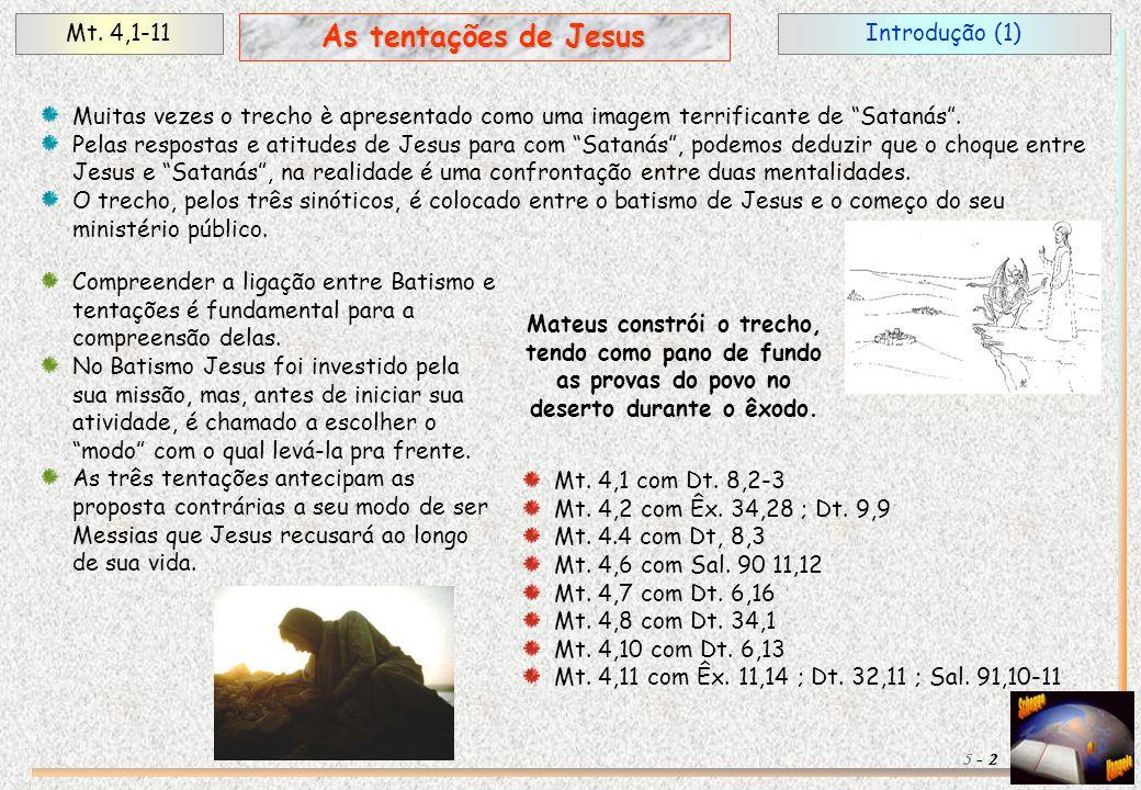 As tentações de Jesus Mt. 4,1-11 Introdução (1)