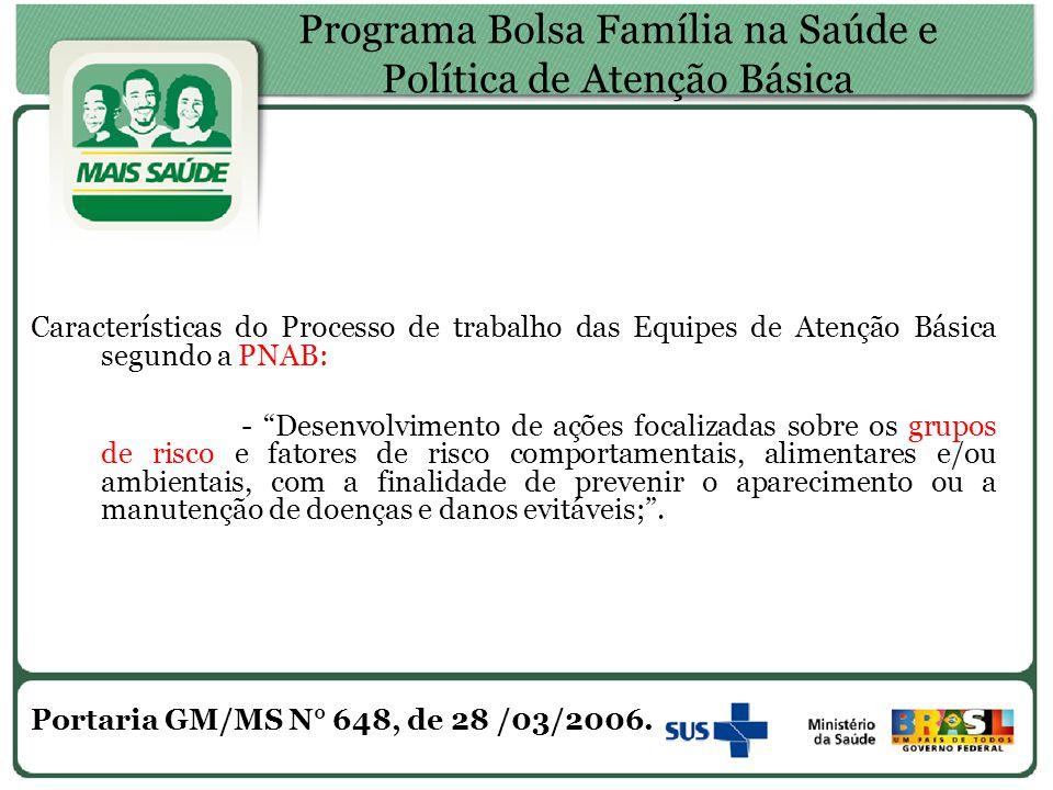 Programa Bolsa Família na Saúde e Política de Atenção Básica