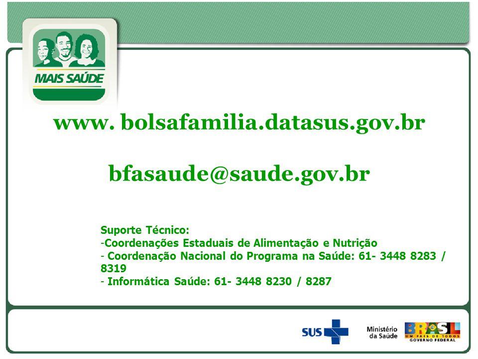 www. bolsafamilia.datasus.gov.br