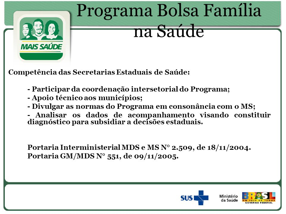 Programa Bolsa Família na Saúde