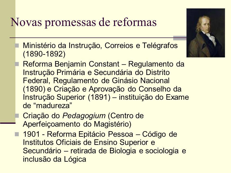 Novas promessas de reformas