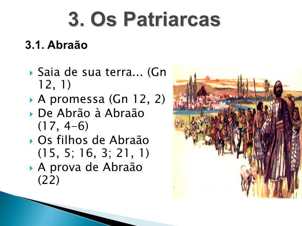 3. Os Patriarcas 3.1. Abraão Saia de sua terra... (Gn 12, 1)