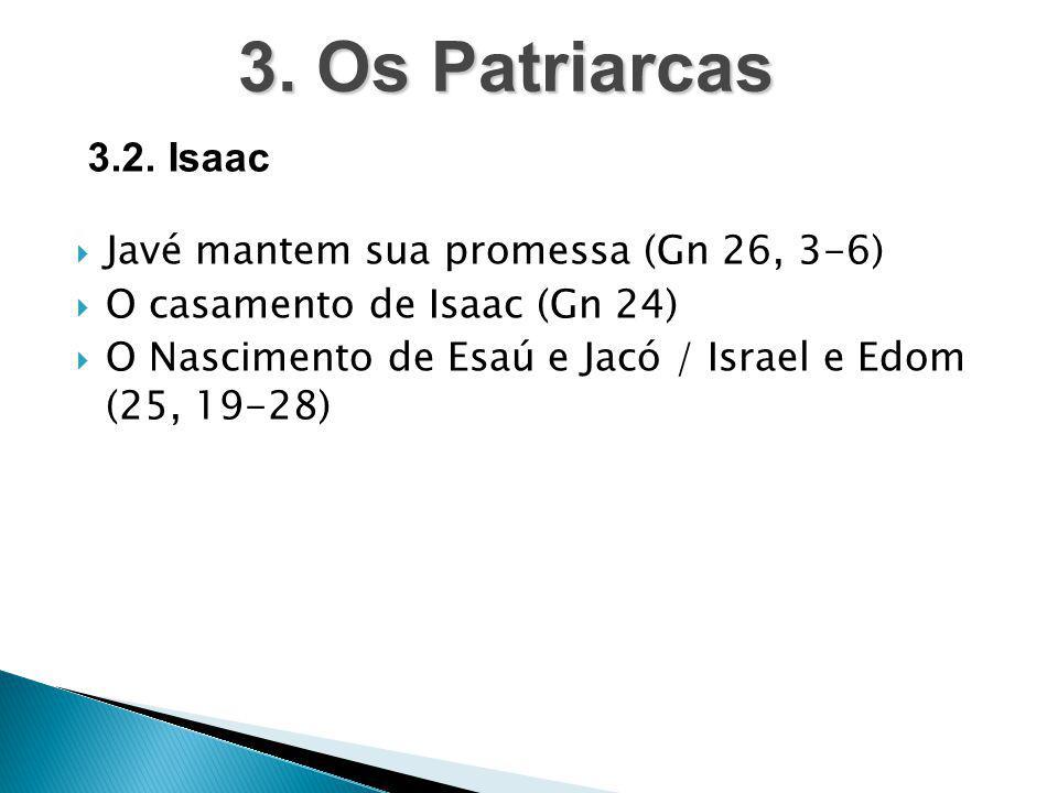 3. Os Patriarcas 3.2. Isaac Javé mantem sua promessa (Gn 26, 3-6)