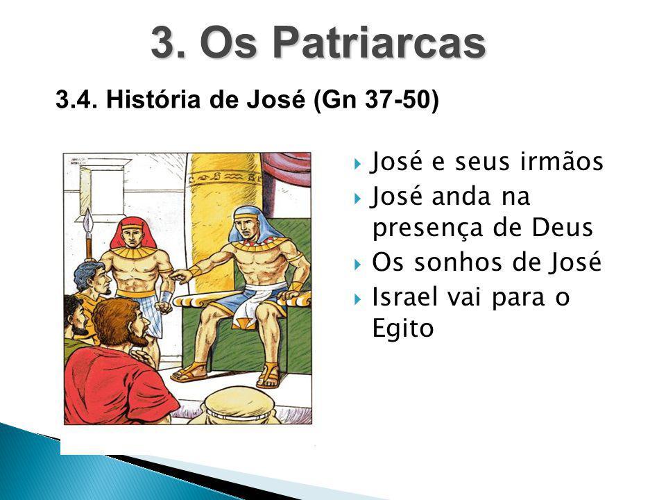 3. Os Patriarcas 3.4. História de José (Gn 37-50) José e seus irmãos