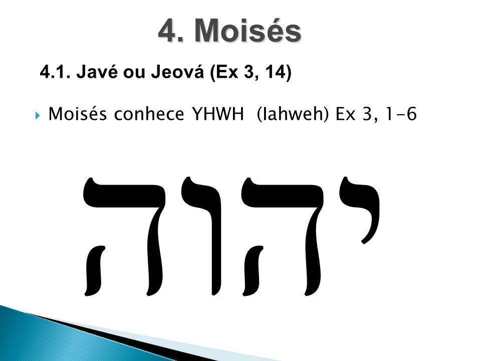 4. Moisés 4.1. Javé ou Jeová (Ex 3, 14)