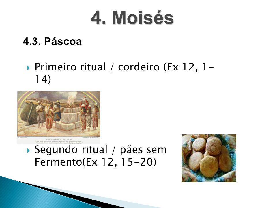 4. Moisés 4.3. Páscoa Primeiro ritual / cordeiro (Ex 12, 1- 14)