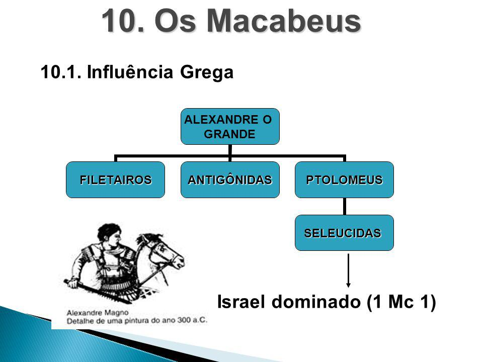 10. Os Macabeus 10.1. Influência Grega Israel dominado (1 Mc 1)