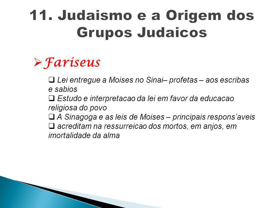 11. Judaismo e a Origem dos Grupos Judaicos