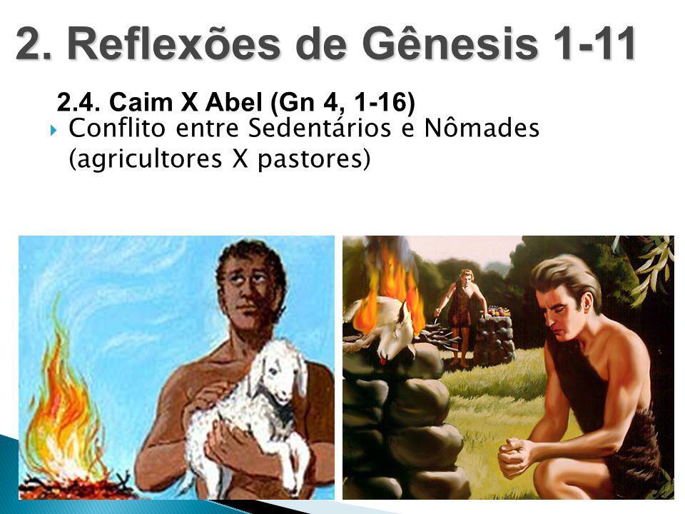 2. Reflexões de Gênesis 1-11 2.4. Caim X Abel (Gn 4, 1-16)