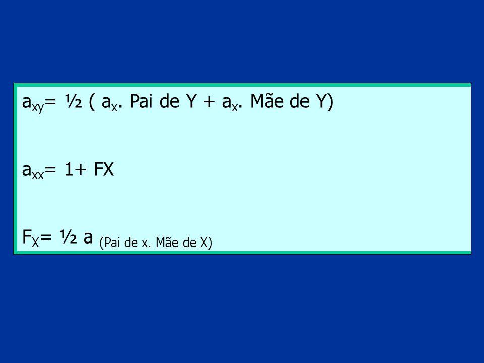 axy= ½ ( ax. Pai de Y + ax. Mãe de Y)