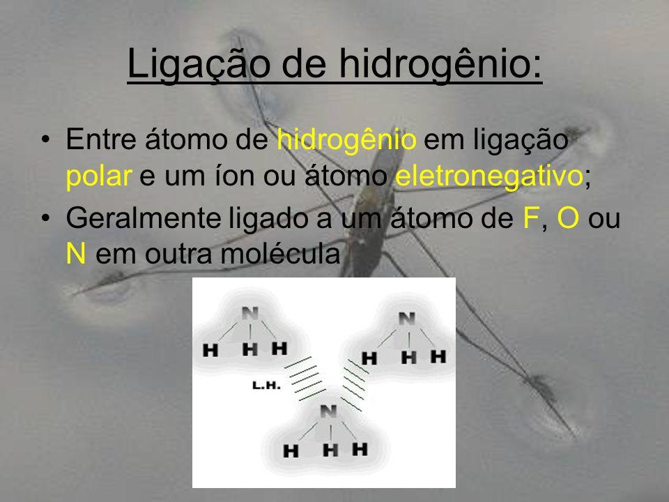 Ligação de hidrogênio: