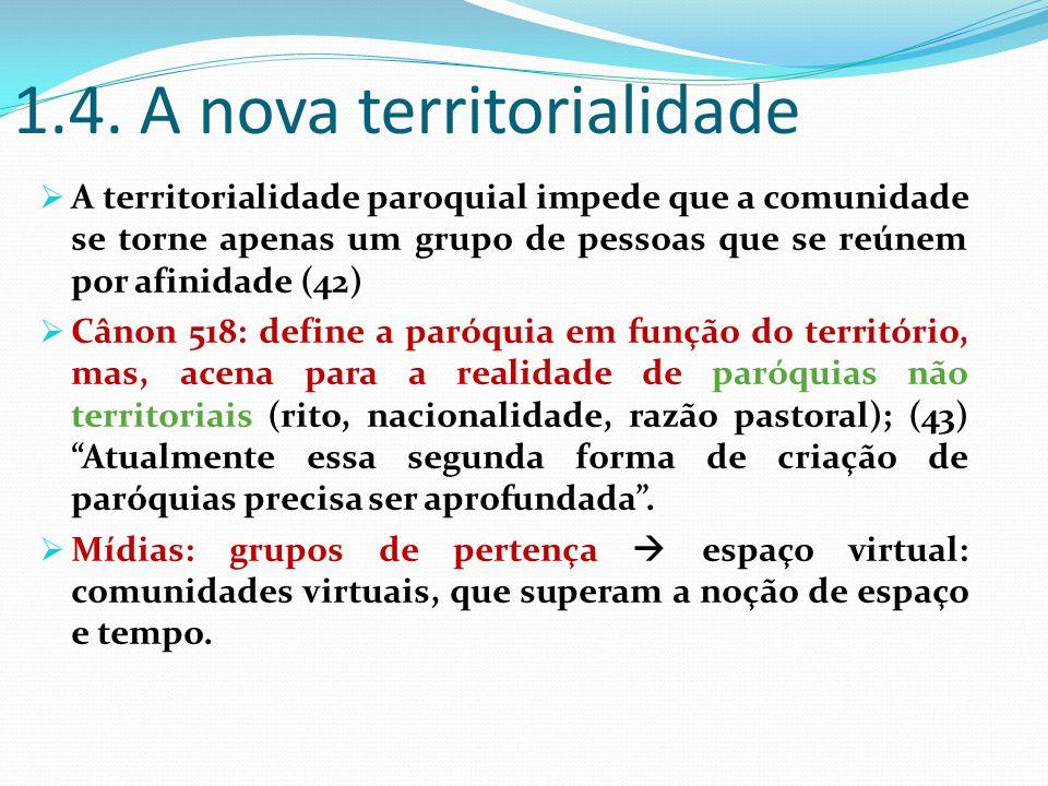 1.4. A nova territorialidade