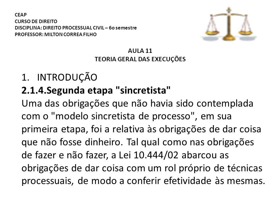 TEORIA GERAL DAS EXECUÇÕES