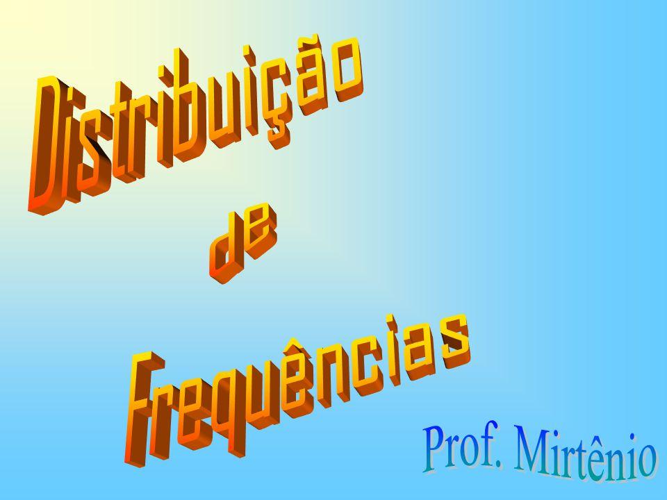 de Distribuição Frequências Prof. Mirtênio
