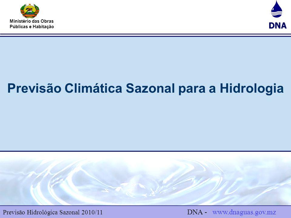 Previsão Climática Sazonal para a Hidrologia