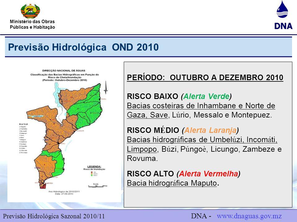 Previsão Hidrológica OND 2010