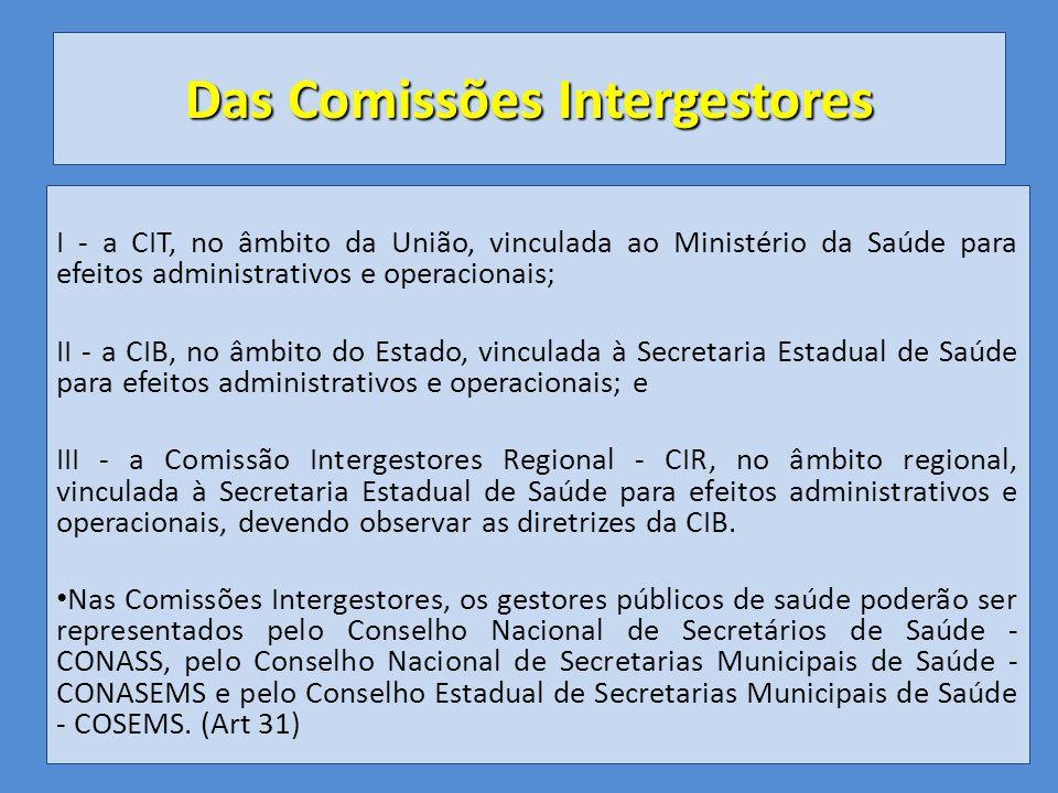 Das Comissões Intergestores