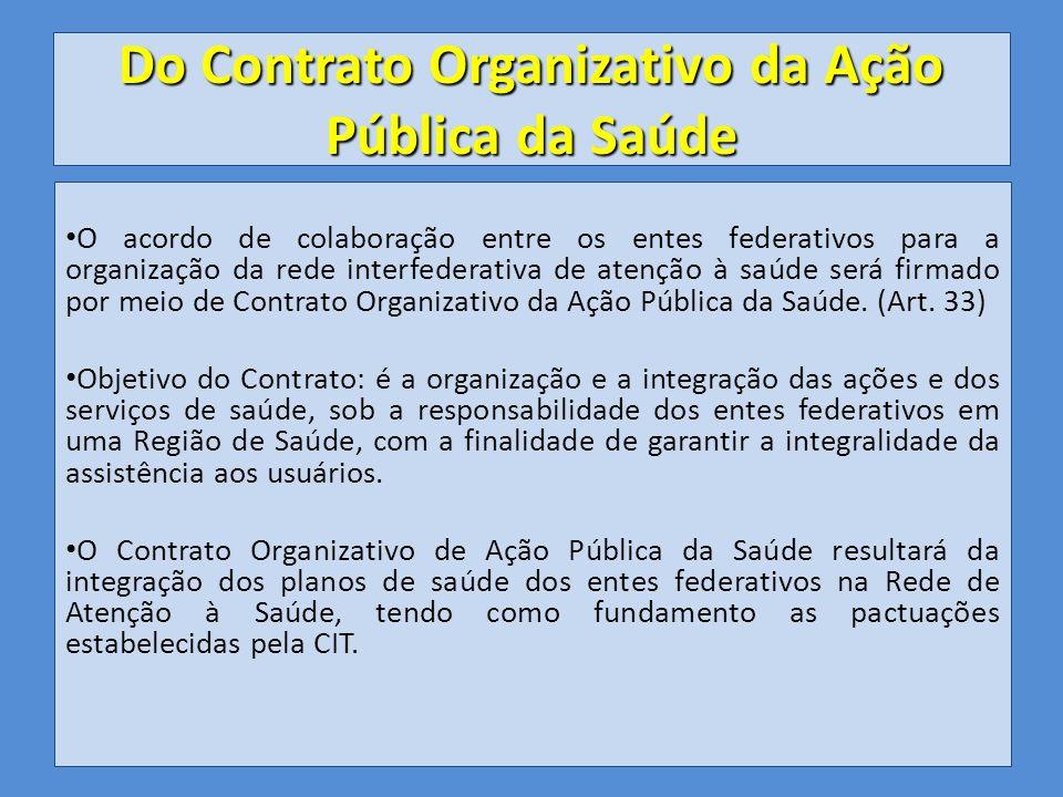 Do Contrato Organizativo da Ação Pública da Saúde