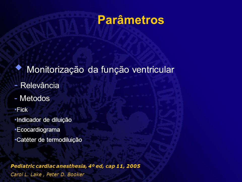 Monitorização da função ventricular