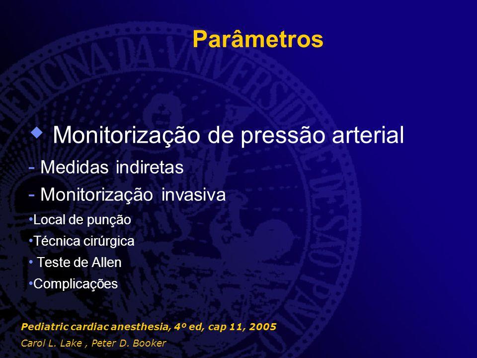 Monitorização de pressão arterial