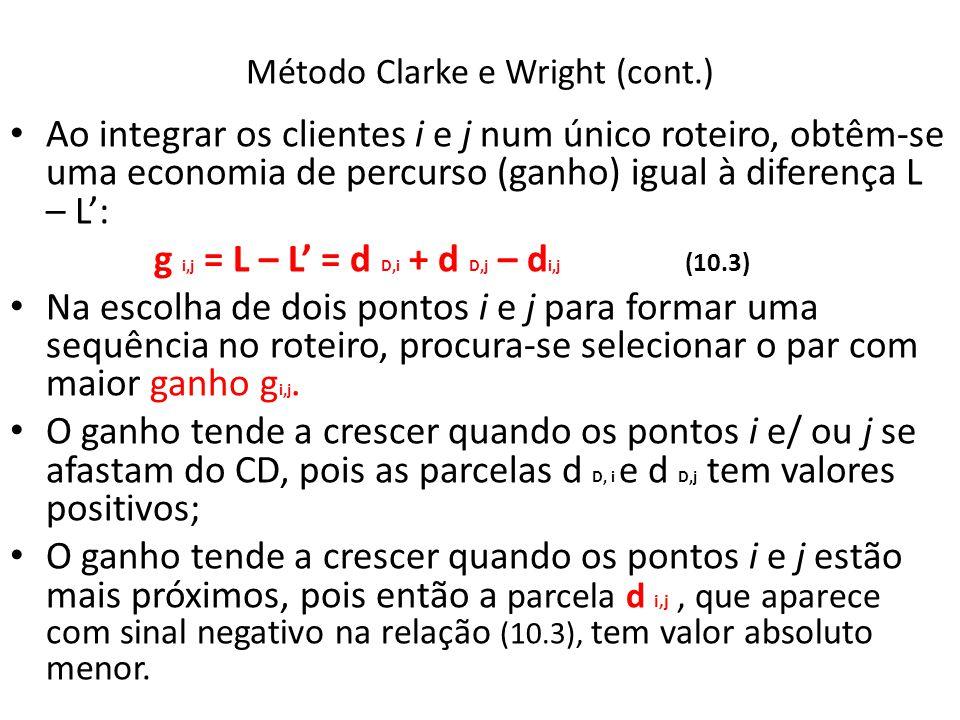 Método Clarke e Wright (cont.)