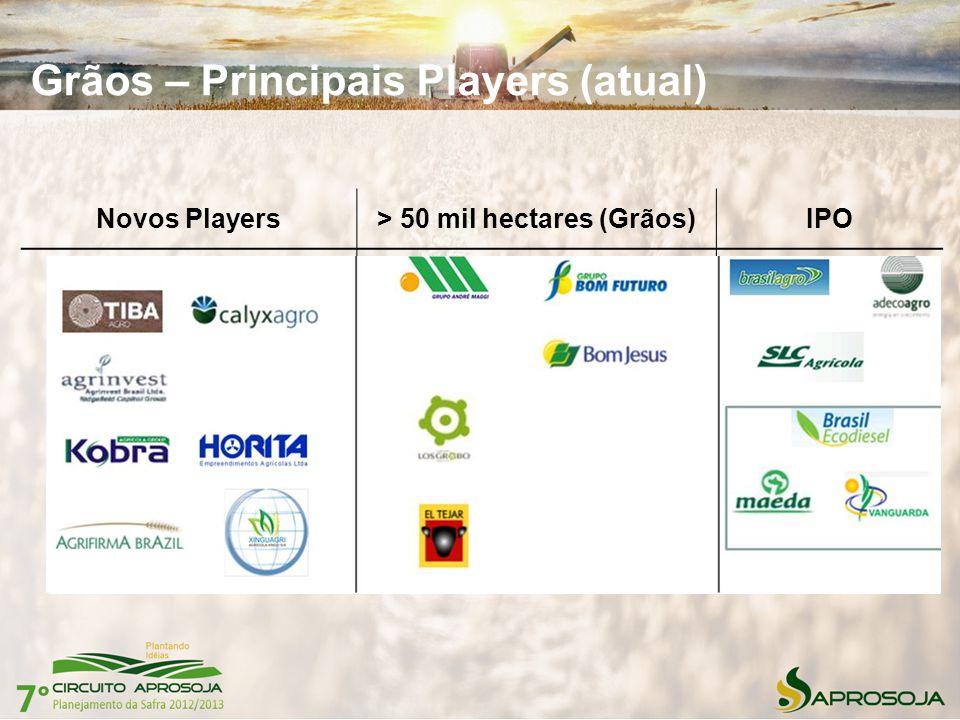 > 50 mil hectares (Grãos)