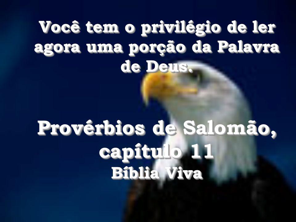 Provérbios de Salomão, capítulo 11