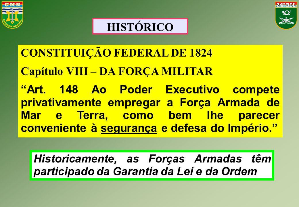 CONSTITUIÇÃO FEDERAL DE 1824 Capítulo VIII – DA FORÇA MILITAR