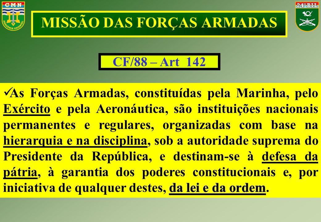 MISSÃO DAS FORÇAS ARMADAS