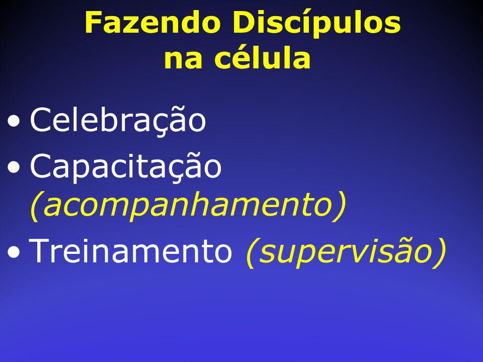 Celebração Capacitação (acompanhamento) Treinamento (supervisão)