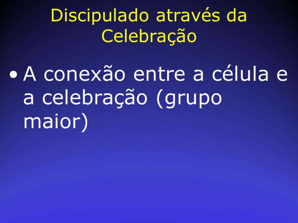 A conexão entre a célula e a celebração (grupo maior)