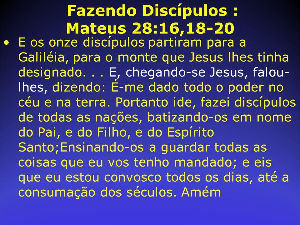 Fazendo Discípulos : Mateus 28:16,18-20