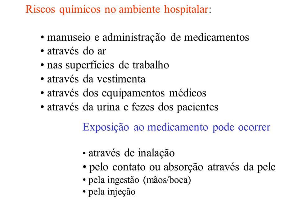 Riscos químicos no ambiente hospitalar: