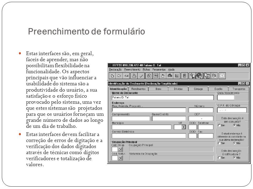 Preenchimento de formulário