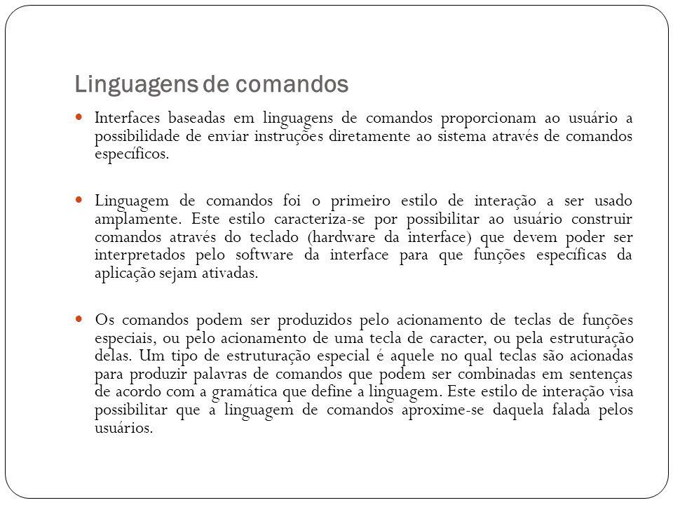 Linguagens de comandos