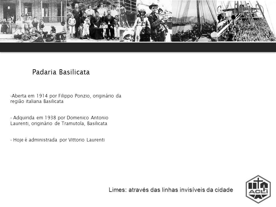 Padaria Basilicata Limes: através das linhas invisíveis da cidade